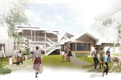 nettletontribe's winning competition entry Linear Landscape House by Rebecca Champney The Middle, Townhouse, Competition, Australia, Cabin, Landscape, Architecture, House Styles, Champs