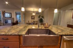 Double Sided Farmhouse Sink : 1000+ images about Kitchen Designs on Pinterest Brown cabinets ...