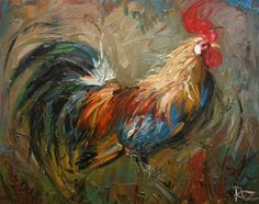 11x14 Print of oil painting Rooster