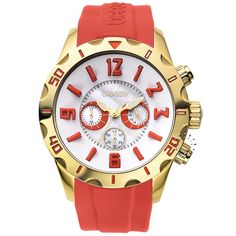 BREEZE California Dream Chrono Red Rubber Strap Μοντέλο: 110051.1 Τιμή: 170€ http://www.oroloi.gr/product_info.php?products_id=30504