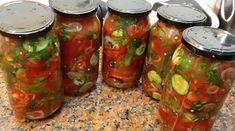 Fantastický nakladaný šalát, ktorý robíme celé leto aj zimu. Budete sa zalizovať New Cooking, Salsa, Canning, Dinner, Ethnic Recipes, Food, Pickles, Gastronomia, Salads