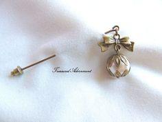 Hijab pin Bow and Pearl Dangle Hijab pin by TreasuredAdornment