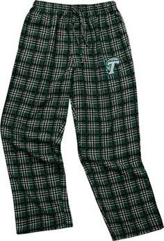 Tulane Green Wave Dark Green Empire Flannel Pants