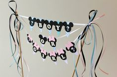 Baby shower decorations Baby Mickey Mouse by RaisinsPartySupplies