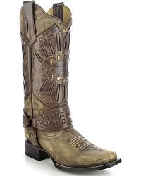 Corral Women's Mask & Harness Cowgirl Boots - Square Toe - Sheplers