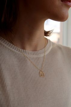 ALIITA | Casita Brillante Necklace | Minimal Nordic Gold Necklace, Pendant Necklace, Minimalism, Fashion Beauty, Diamond, Beautiful, Jewelry, Style, Schmuck