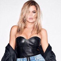 Khloe Kardashian Photos, Koko Kardashian, Robert Kardashian, Kardashian Jenner, Bustiers, Best Hair Growth Oil, Leather Bustier, Kardashian Kollection, Cool Hairstyles