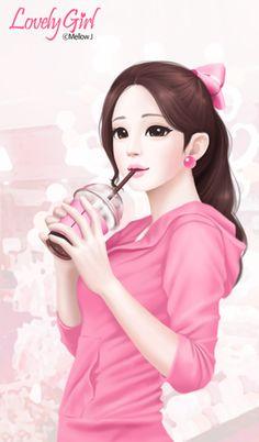 러블리걸(sweet girl) 카카오톡테마 : 네이버 블로그