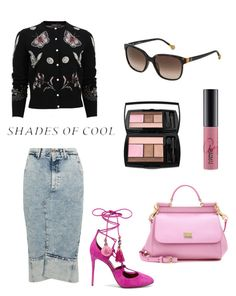 """Types of pink"" by scarcia-valentina ❤ liked on Polyvore featuring Dolce&Gabbana, Alexander McQueen, Bassike, MAC Cosmetics, Lancôme, Carolina Herrera and ChannelByValentinaScarcia"