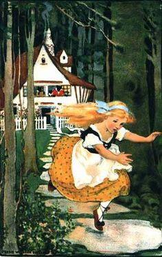 Goldilocks and the Three Bears.by Jessie Willcox Smith.This illustration came from: Swift's Premium Calendar. American Illustration, Children's Book Illustration, Jessie Willcox Smith, Goldilocks And The Three Bears, Fable, Vintage Fairies, Fairytale Art, Bear Art, Vintage Children