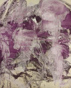 From Gagosian Gallery, Julian Schnabel, A Little Later (1990), Oil, gesso on white tarp, 96 × 76 in