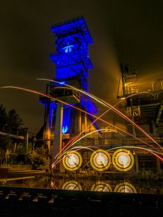 https://flic.kr/p/yXTT4u | Feuer frei am Löschturm | Lightpainting in one single exposure - no layers - no photoshop - only light and fireworks with OM-D E-M5 OLYMPUS DIGITAL CAMERA