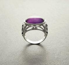 Boho Amethyst Ring  Sterling Silver Ring  Genuine by KRAMIKE