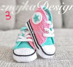 really wish you could buy this pattern. these are the perfect high top converse replicas....Custom made baby sneakers soft sole shoes boy's handmade yarn Crochet shoes cotton crocheted baby shoe in sneaker design, '='