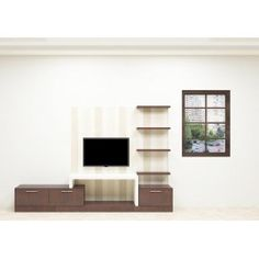 Attractive TV Unit with drawers and wall shelves made up of plywood and laminate finish adds the adorable look to the living room. This TV Unit will welcome a charm and graceful effect to the entire space. A modernized house will definitely need a furniture like this to enhance the beauty of the interior.