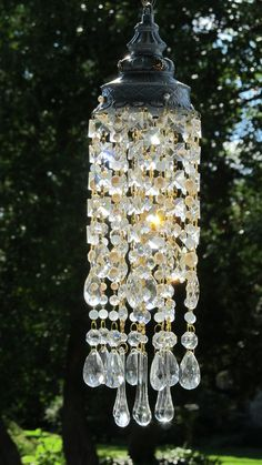 crystal rain vintage sun catcher wind chime by leah sold crafts pinterest carillon. Black Bedroom Furniture Sets. Home Design Ideas