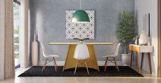 Por que o Conjunto com 4 Cadeiras Eames?Olha só que incrível este Conjunto com 4 Cadeiras Eames! Arrojado, né? Vai deixar a decoração do seu lar ainda mais moderna. Confeccionado com materiais de qualidade, o kit é ideal para ser colocado na sua cozinha, sala de jantar ou para aquel espaço gourmet que pede um estilo diferenciado. Perfeito, não? Leva!