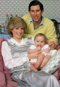 The Prince and Princess of Wales with Prince William.