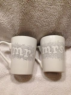 Mr. And Mrs. Mugs by WynnieCo on Etsy https://www.etsy.com/listing/249960009/mr-and-mrs-mugs