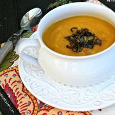 Butternut Squash Soup with Crispy Leeks #HealthyAperture