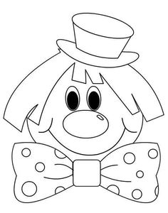Clown-by-color - Easter Colouring Pages, Adult Coloring Pages, Coloring Sheets, Coloring Books, Circus Activities, Craft Activities, Drawing For Kids, Art For Kids, Crafts For Kids