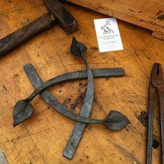 Trivet parts made during the demonstration.  #blacksmith #trivet #handforged