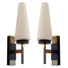 Pair of French Fifties Sconces | From a unique collection of antique and modern wall lights and sconces at http://www.1stdibs.com/furniture/lighting/sconces-wall-lights/
