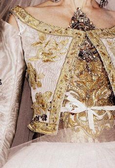 Baroque couture bling