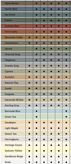 Vinyl Siding Color Chart Vinyl Siding Colors Siding In 2018