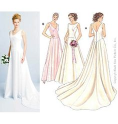 Patron couture robe mariée