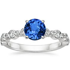 18K White Gold Sapphire Isla Diamond Ring (1/4 CT. TW.) from Brilliant Earth