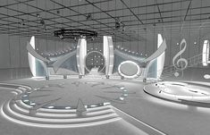Buy Virtual TV Studio Entertainment Set 1 by on Virtual sets that are required for any modern show for TV channels. - Is a high quality model to add mo. Tv Set Design, Booth Design, Event Design, Stand Design, Concert Stage Design, Model Shop, 3d Architecture, Stage Set, 3d Max