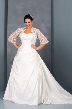 Plus Size Wedding Dresses A Line Sweetheart Court Train Taffeta With Jacket