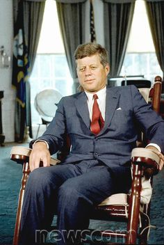 President Kennedy in the Oval Office. (President  ~~ John Fitzgerald Kennedy (May 29, 1917 – November 22, 1963) After military service as commander of Motor Torpedo Boats PT-109 and PT-59 during World War II in the South Pacific, Kennedy represented Massachusetts's 11th congressional district in the U.S. House of Representatives from 1947 to 1953 as a Democrat. Thereafter, he served in the U.S. Senate from 1953 until 1960 ♡❤❤❤♡❤♡❤❤❤♡. http://en.wikipedia.org/wiki/John_F._Kennedy