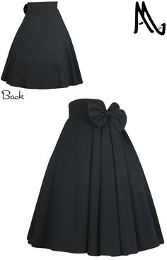 Pleated Bow Skirt by Amber Middaugh ---- One time prototype Auction ends 11/27/2014. This skirt will be custom made in winning bidder's size. #Rockabilly #1950 #Skirt
