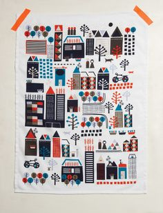 CITTA DESIGN / Winter 2012 Collection / Tokyo: Collision of Contrasts / Tea Towels  www.cittadesign.co.nz