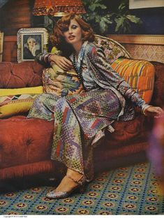 Apollonia van Ravenstein in colorful mosaic pattern three-piece ensemble by Missoni photo by Kourken Pakchanian Vogue October 1 1972 Seventies Fashion, 60s And 70s Fashion, Retro Fashion, Vintage Fashion, Womens Fashion, Fashion 2018, Cheap Fashion, Elie Saab Couture, Moda Vintage