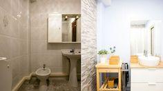Baño rústico y luminoso - Antes y después