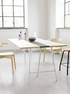 Efter att ha beundrat Ernst på TV hela sommaren kändes det som en låg tröskel att faktiskt bygga en bordsskiva av plankor! Med ett par VIKA LERBERG benbockar som utgångsläge är det ganska snabbt och lätt att göra det där egna bordet som du funderat på så länge!
