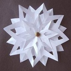 3D Paper Snowflake. I could put a button in the middle!