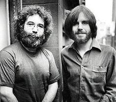 Youngin' Jerry Garcia & Bob Weir with a beard!!