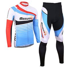 a4572f9ce Mzcurse Mens Long Sleeve Cycling Jersey Shirts Compression Pants Kit  SetBlue XLargeplease check the size chart