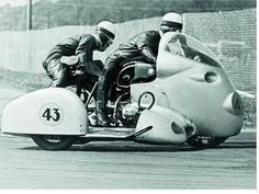MOTORCYCLE 74: Vintage Bmw sidecar racing