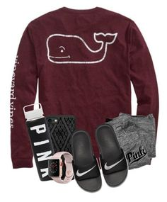 """""""OOTD : No School Lazy Day . . ."""" by meinersk45195 ❤ liked on Polyvore featuring Vineyard Vines, Victoria's Secret, Casetify, Apple and NIKE"""