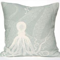 Octopus - Silverberry Pillow