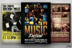 Live Band Flyer Bundle V2 by Thats Design Store on @creativemarket