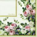 4x Vintage Royal Flowers Paper Napkins for Decoupage Craft