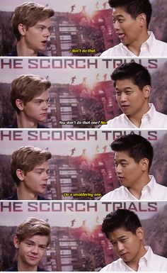 #thescorchtrials cast - thomas sangster and ki hong lee part 2