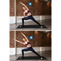 The pose: Modified Extended Side Angle with Reach http://www.womenshealthmag.com/fitness/yoga-poses-for-abs/slide/2
