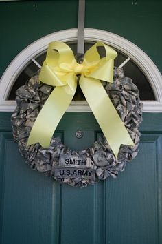 Army Mom, Army Spouse, military, support   https://www.etsy.com/listing/179119743/army-wreath-acu-homecoming-deployment